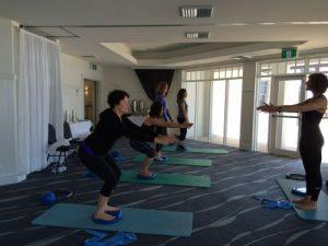 pilates class wellbeing retreat
