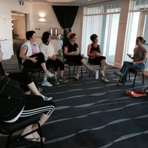 lecture at wellbeing retreat