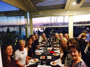 group dinner wellbeing retreat